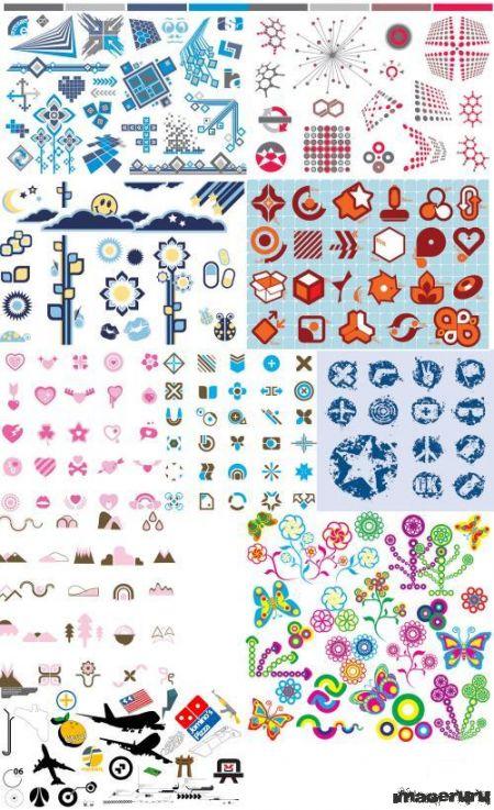 Векторные элементы для дизайна