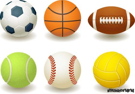 Спортивные мячи в векторе