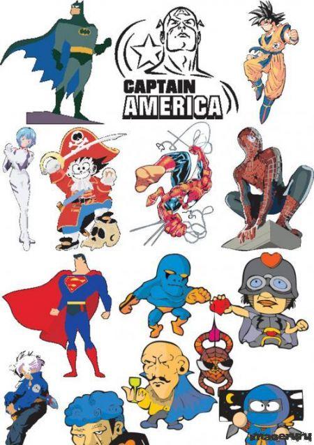 Супергерои из комиксов - бэтмен, спайдермен и др
