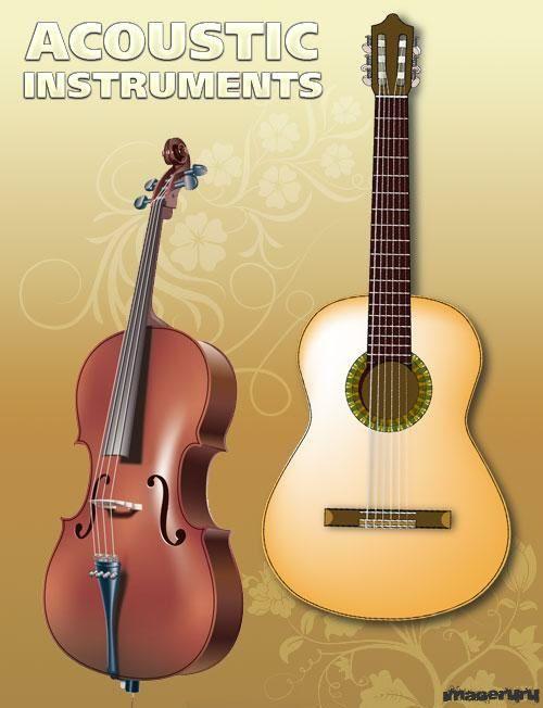 Векторные изображения гитары и скрипки