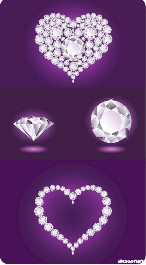 Бриллиантовые сердечки