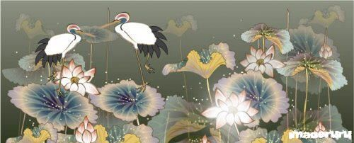 Журавли на лилиях