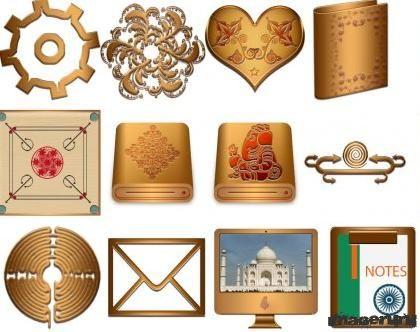 Иконки PNG в индийском стиле