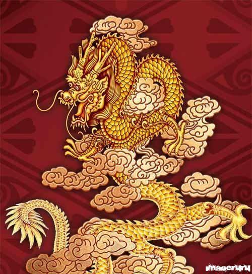 Китайские драконы в PSD