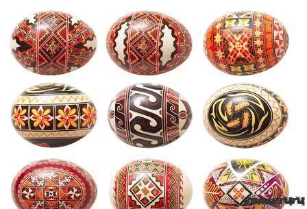 Красивые орнаменты на яйцах