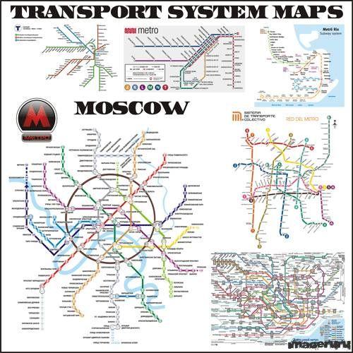 Карты метро городов мира