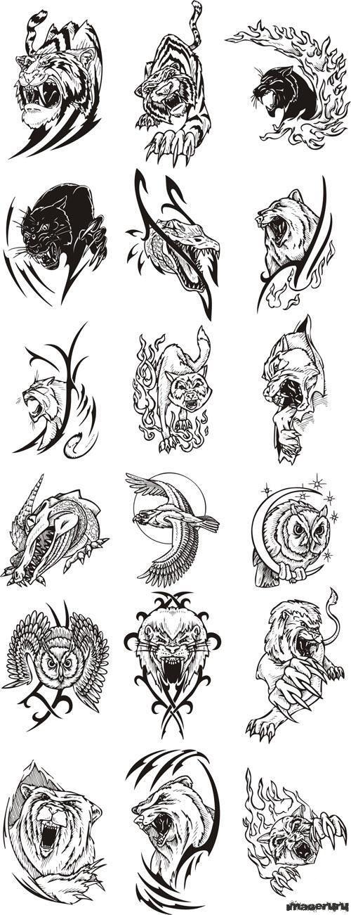 Татуировки звери