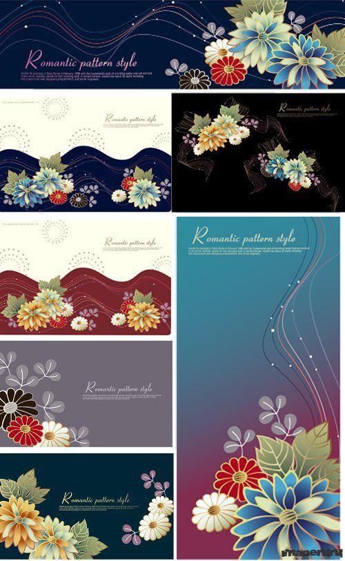 Романтические цветочные орнаменты