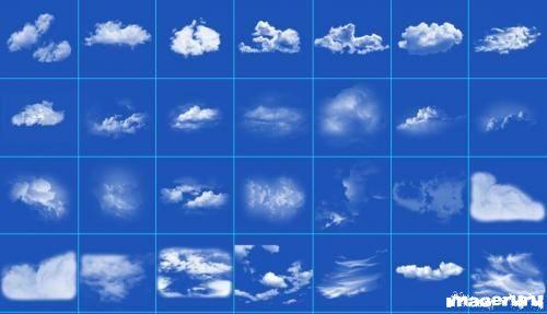 Облака - 35 кистей для фотошоп