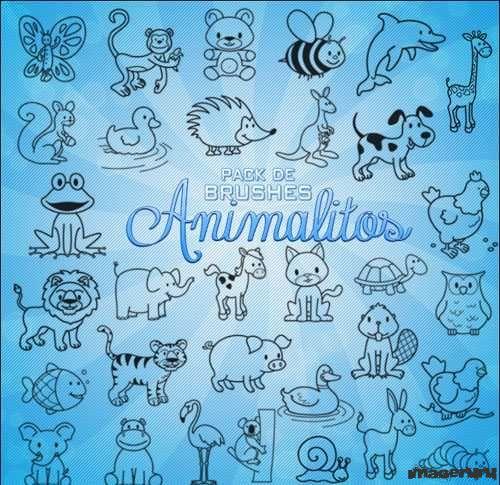 Животные - кисти для фотошопа