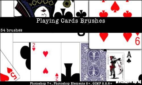 Игральные карты - кисти для фотошопа