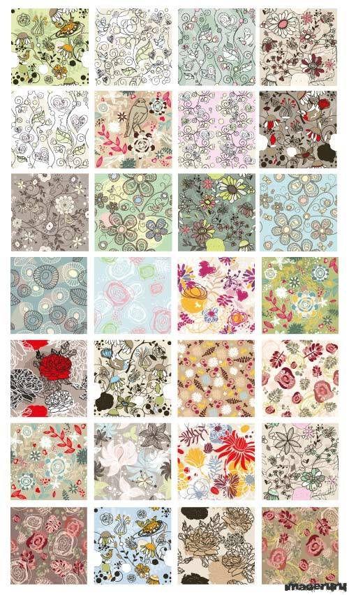 28 цветочных шаблонов