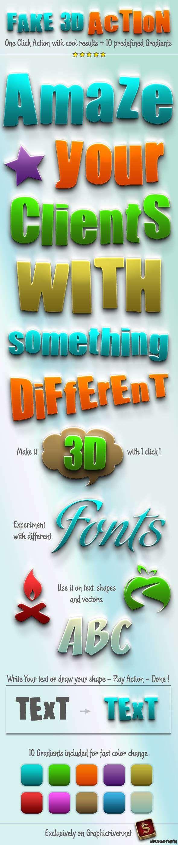 Сделать изображение объёмным - 3D Photoshop Action