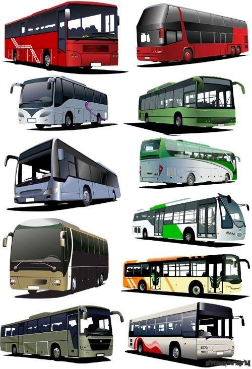 Автобусы разных производителей