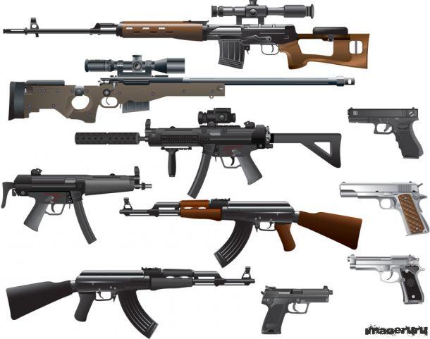 Разное оружие в векторном формате