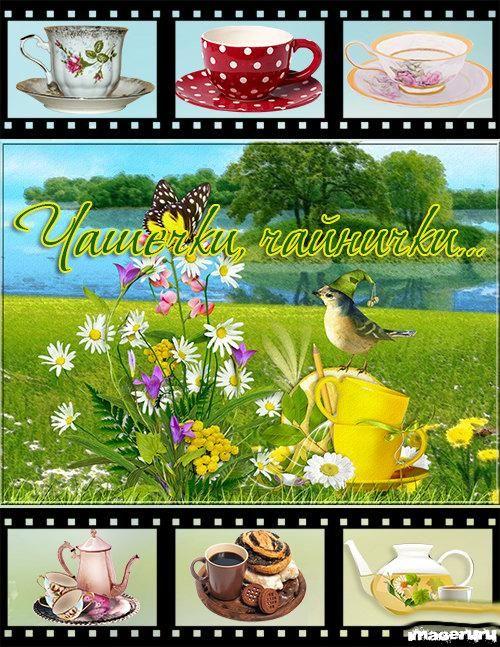 Чашки, блюдца, чайники