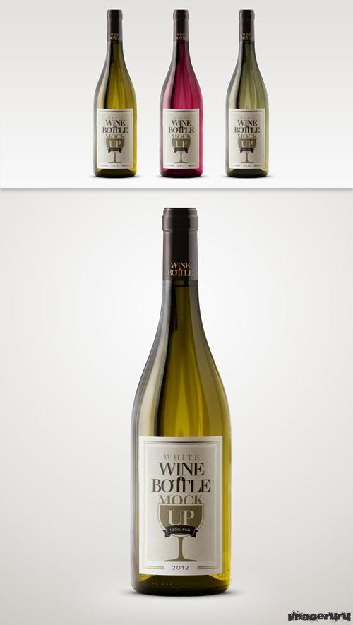 Бутылка белого вина