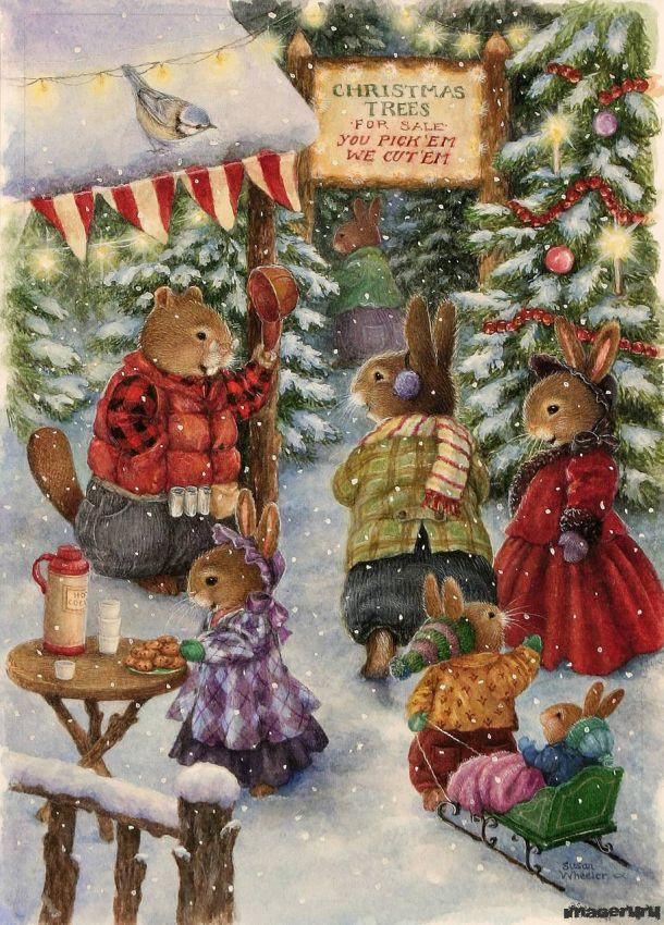 Зимняя сказка... Susan Wheeler