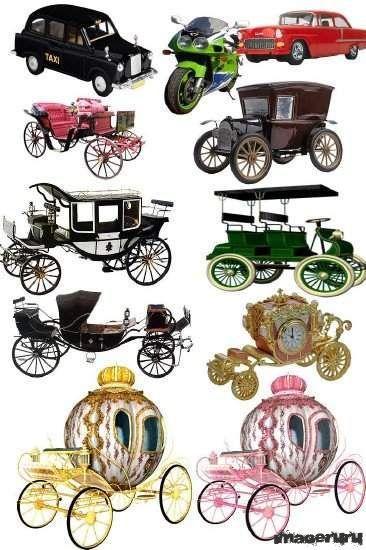 Старинные кареты и автомобили