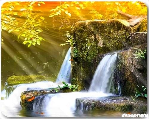 Водопад - экранная заставка