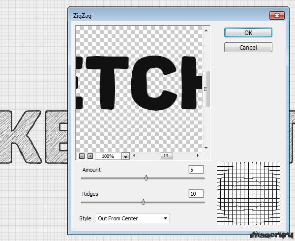 Создаем текст в фотошопе с эффектом наброска от руки