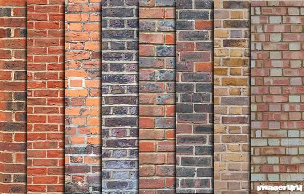 Кирпичная стена - 8 текстур