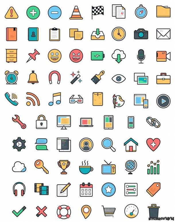 Набор цветных иконок