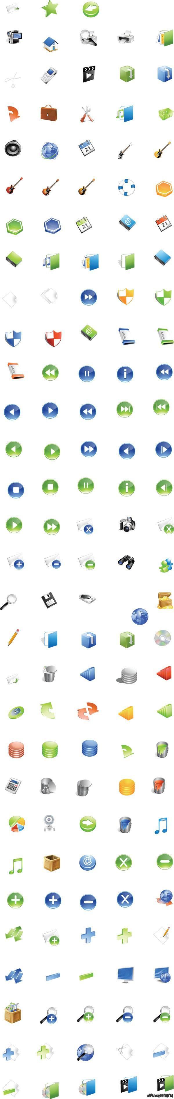 Объемные векторные иконки
