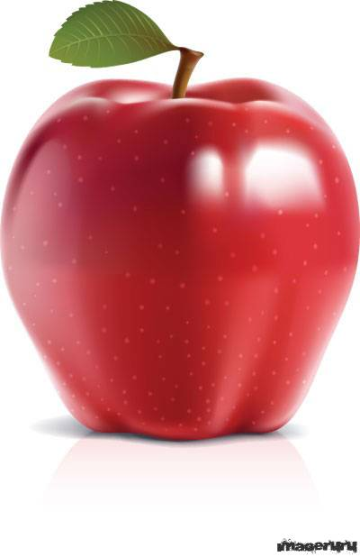 Красное и зеленое яблоки