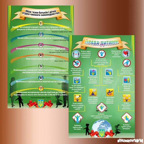 PSD исходник - права детей и обязанности родителей Украина