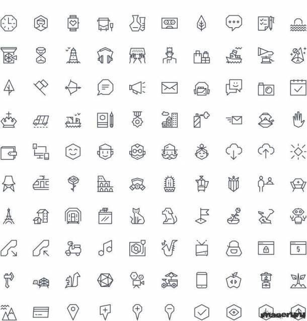 100 векторных иконок