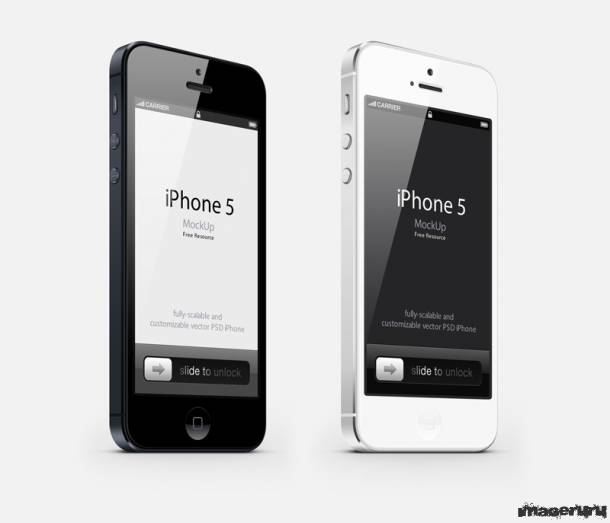 iPhone5 PSD шаблон