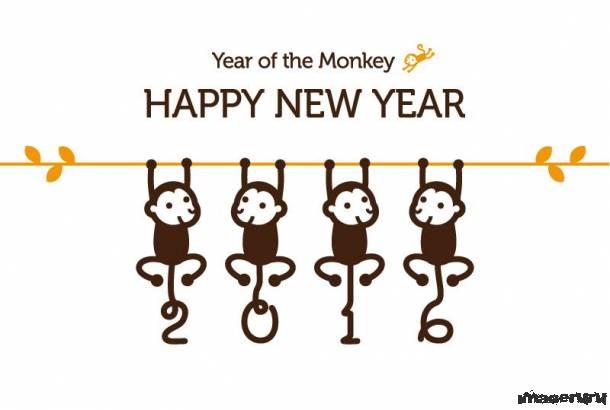 Симпатичные новогодние обезьянки