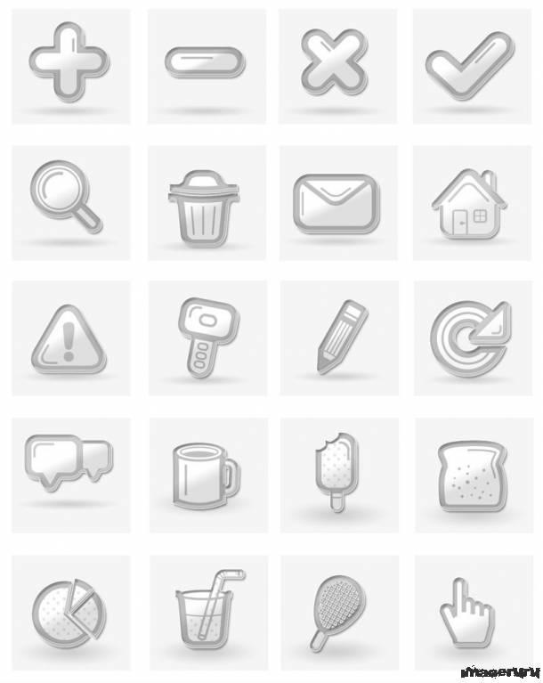 Стильные округлые иконки