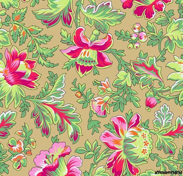 Цветочные орнаменты - фуксия