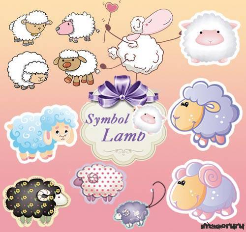 Овца, баран в PNG формате