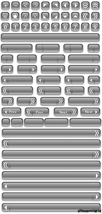 Прозрачные стеклянные кнопки