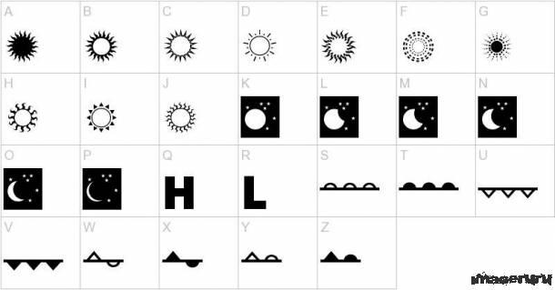Набор визуальных шрифтов №2