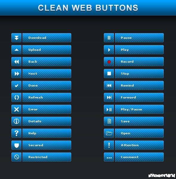 Готовые кнопки для веб