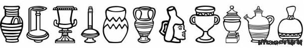 Шрифт глиняная посуда