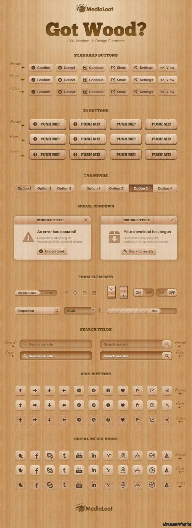 Элементы интерфейса из дерева