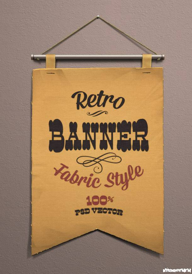 Ретро баннер на ткани